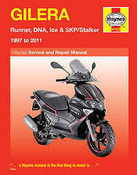 Gilera DNA 50 125 180 Haynes Manual Repair Manual Workshop Manual 2000-2008