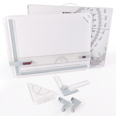 PRO Quality A3 Drawing Board Table With Parallel Motion & Adjustable Angle AU