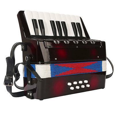 Black Kids Children Music Instrument Toys Piano Accordion Childs Christmas Gift