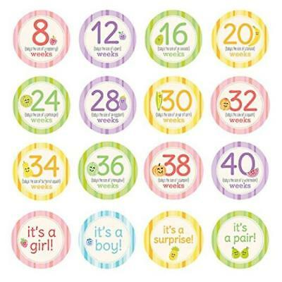 @@ Pearhead Pregnancy Milestone Photo Sharing Belly Stickers 16 Stickers Include
