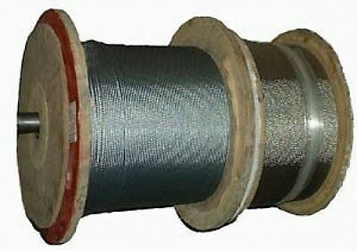 AISI 316 Marine Grade Stainless Steel 7x7 Cons Wire Rope Wire Cable 3mm x 100m