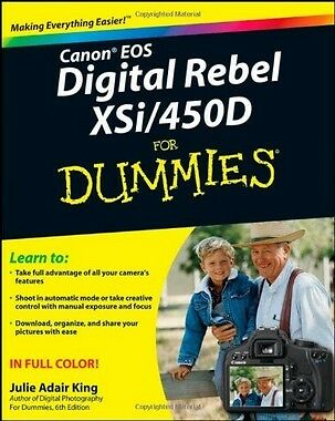Canon EOS Digital Rebel XSi/450D for Dummies,PB,Julie Adair King - NEW