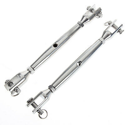 AISI 316 Marine Grade Stainless Steel Yacht Rigging Screws Turnbuckles 4mm x2