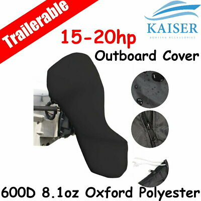 15-20hp Full Outboard Boat Motor Engine Cover Dust Rain Protection Black
