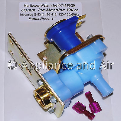 NEW Manitowoc 7601123 / 76-0112-3 Ice Maker Water Inlet Valve 120V SHIPS TODAY