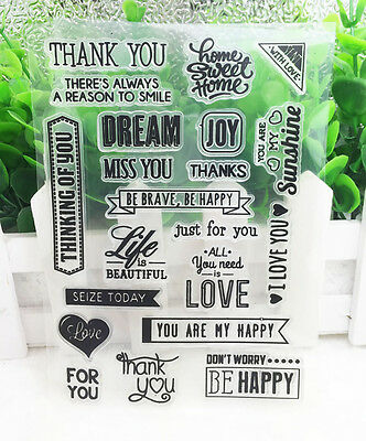 Love Silicone Clear Stamp Seal DIY Diary Scrapbooking Album Note Craft  #17