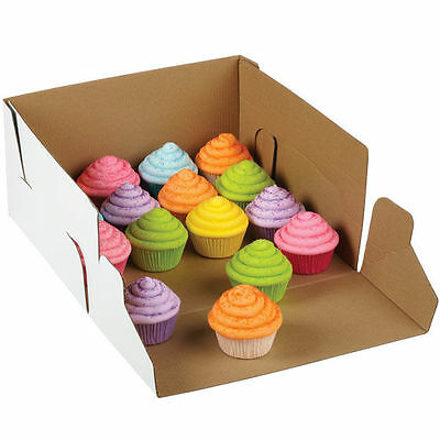Wilton 2 Pk CORRUGATED Window 12 X 12 X 6 Inch Cakes Cupcakes Muffin Party Box