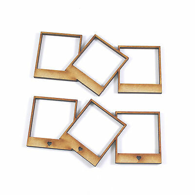 WOODEN TRIPLE PHOTO frame craft blank embellishment scrapbook ...