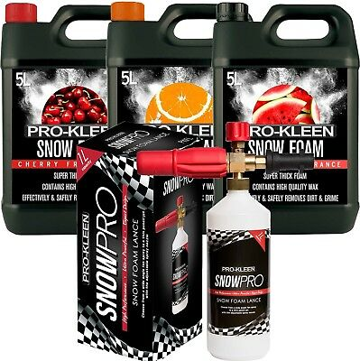 Car Snow Foam Pack With Lance Wax Shampoo Compatible With Karcher K Series