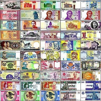 50 Different World Banknotes Lot, Mixed Paper Money, New, UNC