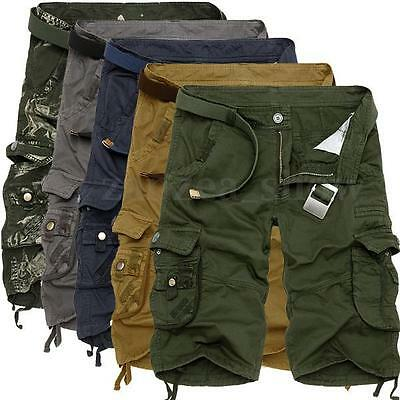 New Mens Casual Summer Army Camo Work Trousers Cotton Cargo Combat Pants Shorts