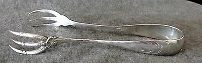 Antique MH Wilkens & Sohne 800 German Silver Ice Tongs