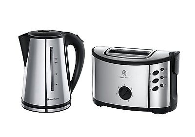 Russell Hobbs 14816 Regent Kettle & Toaster Twin Pack Home Set Stainless Steel