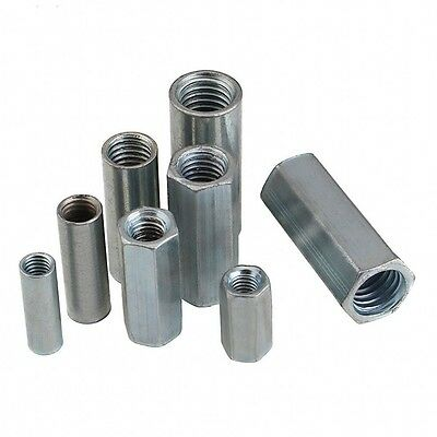 Metric Rod Coupling Nuts Hex Round Nuts Carbon Steel M6 M8 M10 M12