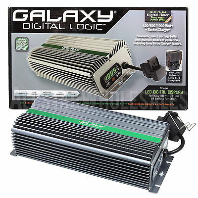 Galaxy Digital Logic Dimmable Ballast 400w 600w 1000w MH HPS Lamp Turbo Charge
