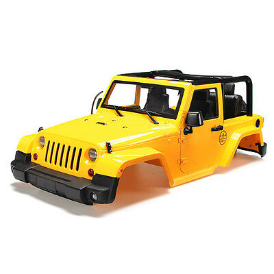1/10 RC Truck Hard Body Shell Canopy Jeep Wrangler Rubicon Topless
