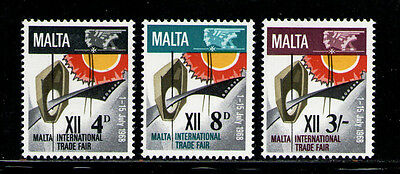 MALTA 1968 MNH SC.384/386 Malta Trade Fair