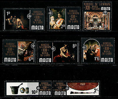 MALTA 1970 MNH SC.409/416 Art Exhibition