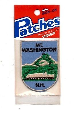 Mt. Washington NH Voyager Travel Souvenir Patch - Brand New - Free Shipping!