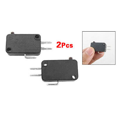 New 2 Pcs Black Plastic Electric 1NO 1NC Contacts Push Button Micro Switch N3