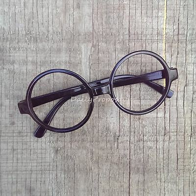 Round Retro Glasses Metal & Plastic Harry Potter Hipster Bookworm Halloween USA