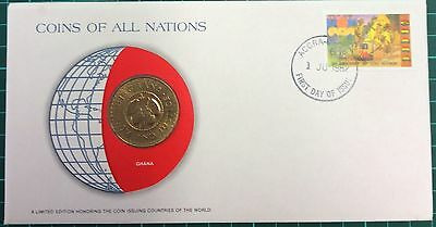 Coins of all nations coin and pnc -  Ghana