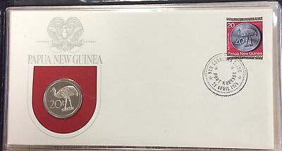 1975 Papua New Guinea first day of issue cachet - 20t