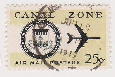 (CZ-76) 1965 Canal Zone 25c air Mail (K)