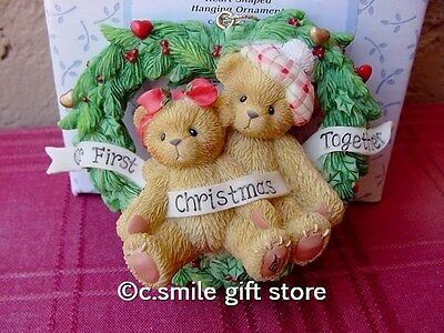 Cherished Teddies *OUR FIRST CHRISTMAS Ornament* #865001 Holiday Enesco MIB Ret