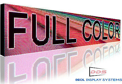 """Indoor Full Color P10 Led Sign Programmable Open Text Scrolling Message 7"""" x139"""""""