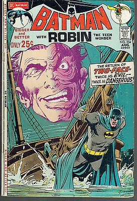 BATMAN 234  VG/4.0   -  1st Silver Age appearance of Two Face!