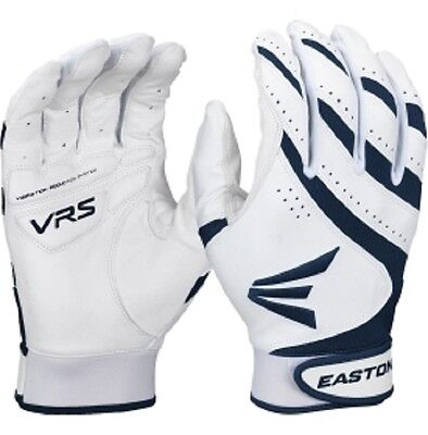 1 Pair Easton HF VRS Adult Small White / Navy Fastpitch Womens Batting Gloves