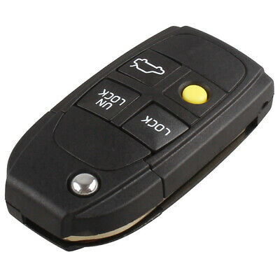 4 Button Flip Remote Key Fob Case Shell for VOLVO S40 V40 C70 S60 S80