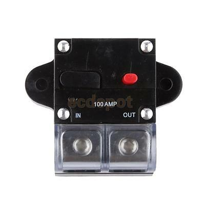 100 Amp In-Line Circuit Breaker Stereo/Audio/Car/ 100A High Current Fuse 12V/24V