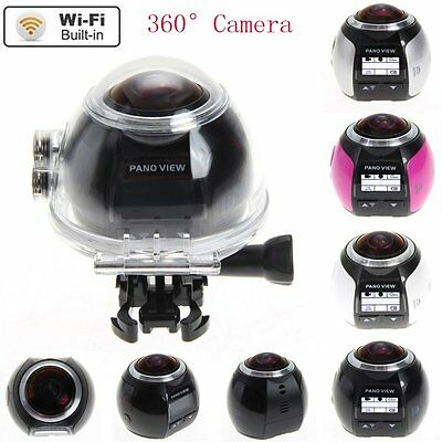 4K 360° Wifi Panoramic Camera Ultra HD 2448*2448 Sport Action Driving VR Camera