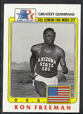Topps 1983 Greatest Olympians - Card No 66 - 1600 Metre Runner Ron Freeman - USA