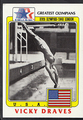 Topps 1983 Greatest Olympians - Card No 79 - Diver Vicky Draves - USA