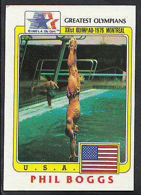 Topps 1983 Greatest Olympians - Card No 85 - Diver Phil Boggs - USA