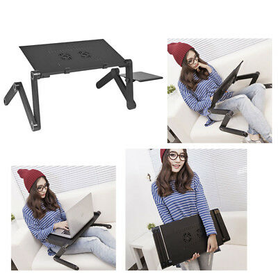Adjustable Portable Folding Laptop Desk Table Stand Bed Tray For PC Notebook NEW