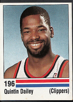 Panini NBA Basketball 1989 Sticker - No 196 - Quintin Dailey - Clippers
