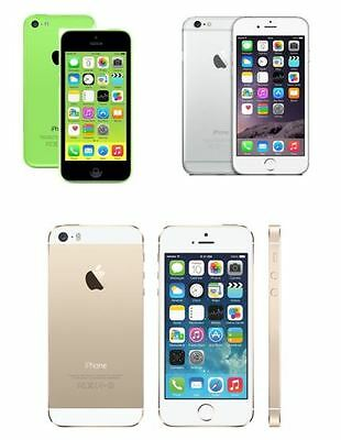 Apple iphone 5C 5S 6 6S SE 16GB 32GB 64GB 128GB Smartphone Unlocked Sim Free