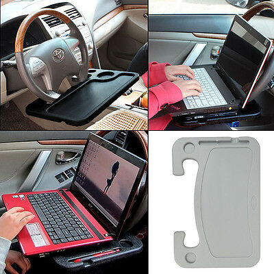 Car Desk Seat Table Laptop Mount Holaer Stand Steering Wheel Tray Work Tablet