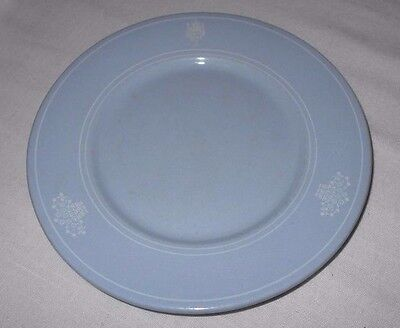 VTG Blue Claremont Country Club Oakland Buffalo Lune Ware Plate Restaurant Ware