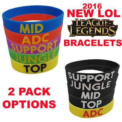 League of Legends LOL Bracelet Wristband Armband ADC, MID, TOP, JUNGLE, SUPPORT