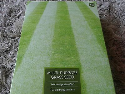 Multi purpose grass seed total coverage fast strong germination 1kg