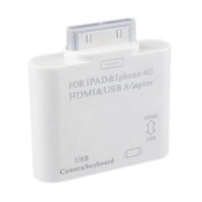USB HDMI Adapter Dock Connector to HDTV TV for iPad 2 3 iPhone 4 4G 4S ED