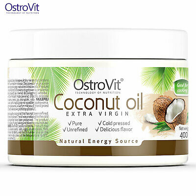 Coconut Oil 400g Organic RAW Unrefined Cold Pressed Extra Virgin Weight Fat Loss