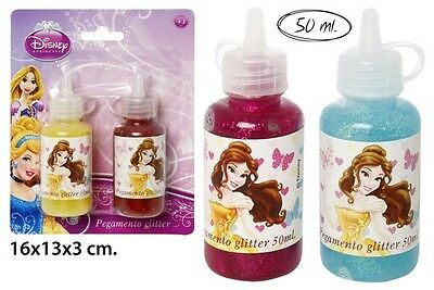 Disney Princess Cars Prinzessinnen * Glitzerkleber * Kleber Bastelkleber 2x 50ml
