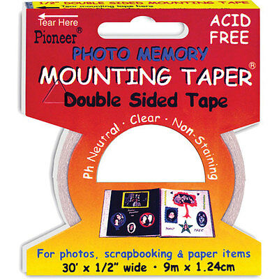 """Pioneer Acid Free Photo Memory Adhesive Mounting Tape, 1/2"""" x 30 ft. Roll. #MMT9"""