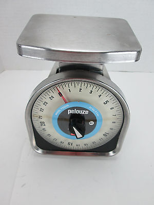 Pelouze Scale YG425R Capacity 25 lb. x 2 Oz. Rubbermaid Stainless Steel Finish T